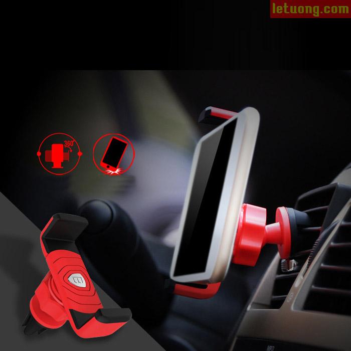 Giá đỡ điện thoại trên xe hơi Baseus Rotating 360 gọn nhé nhất